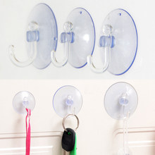 New High Quality Kitchen Accessories Suction Cup Transparent Hanger Hooks Strong 10PCS/Set Bathroom Home Storage For New Year(China)