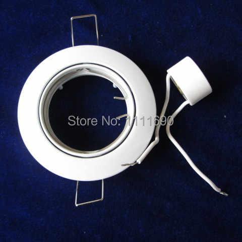 По крайне низким ценам под потолок пятно света карданный комплект алюминиевый корпус белого цвета без источника света или светодиодный драйвер GU10/MR16 цоколь лампы