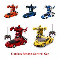 Garçons cadeaux étonnants déformation voiture jouets automatique une-clé transformer Robot en plastique modèle voiture drôle jouets pour enfant jouet nouveauté