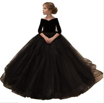 Princess Girl Wedding Dress Girls Party Birthday Dress Spring Autumn Clothing  Ball Gown Kids Christmas Performance Clothes