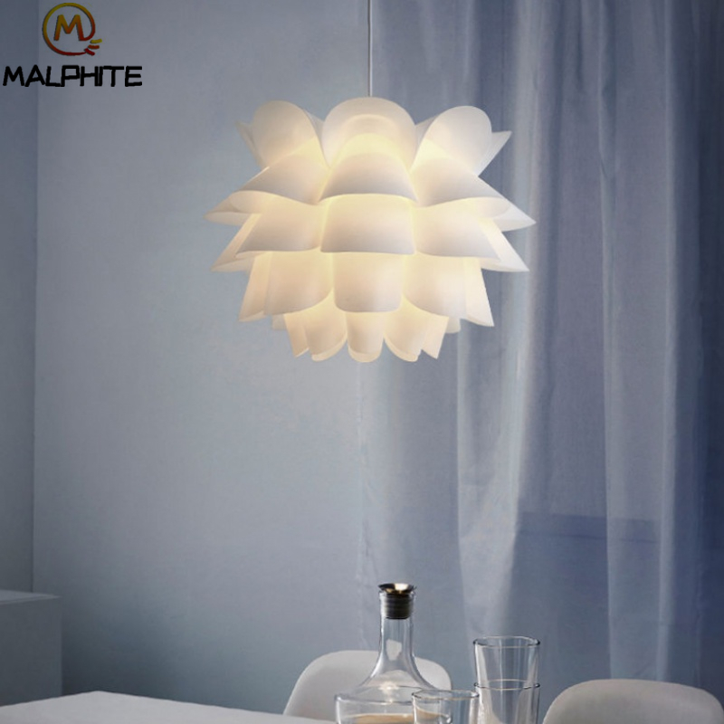 Nordic PVC Pendant Lights Modern Simple Lotus Kitchen Fixtures Bedroom Bedside Pendant Lamp Cafe Bar Decor Lighting Luminaires in Pendant Lights from Lights Lighting