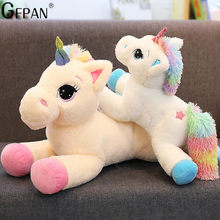 Giant 60/80cm Kawaii Unicorn Stuffed Animals Soft Plush Doll Cartoon Unicorn Animal Horse Birthday Gift Toys for children Kids(China)