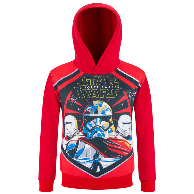 2017 New Sring  Autumn Boys Hoodies Star Wars Hoody T-shirt Long Sleeves Boys Sweatshirt Kids Hoodies Cartoon Children Clothes