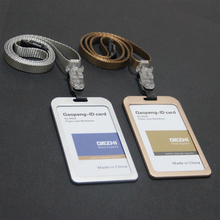 High-grade, aluminum alloy, job card, id card badges, hang rope, card sets, can hang can clamp, double-sided visual, durable