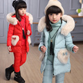 Fashion Girls 3pcs Clothing Sets winter suits teenage children clothing princess girls clothes suits for girls vest+tshirt+pant
