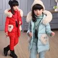 Moda Meninas 3 pcs Conjuntos de Roupas ternos crianças adolescentes roupas de inverno princesa meninas roupas ternos para meninas colete + camiseta + pant