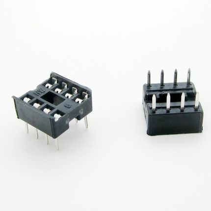 60PCS/Lot 8 Pin DIP Square Hole IC Sockets Adapter 8Pin Pitch 2.54mm Connector ta7555p dip 8