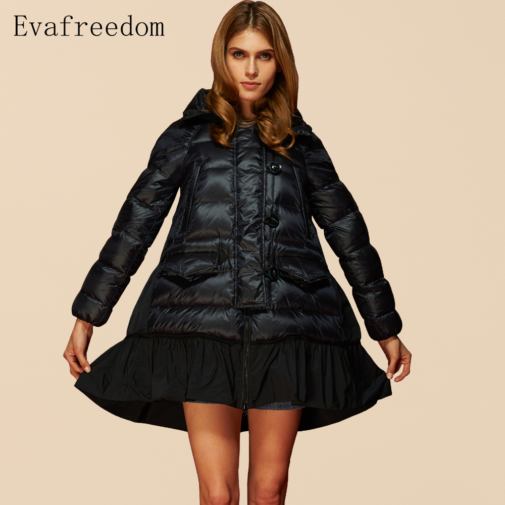 2016 Winter jacket women down jackets women't down coats 90% Duck down parkas loose long coat Outwear overcoat parkas hooded цена