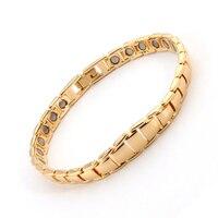 Elegant 38 Male Bangles Magnets Health Balance Germanium Anion Pure Copper Bracelet Magnetic Therapy Bracelet