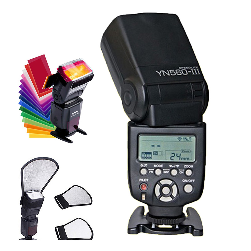 YONGNUO YN560 III YN560III Вспышка Speedlite Беспроводной фонарик вспышки для Canon/Nikon/Pentax/Olympus Panasonic DSLR Камера