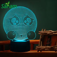 7 Colors Interesting Pity Expression Night Light 3D LED With Touch Lamp Lights Baby Sleeping Lamp