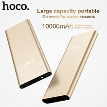HOCO B16 Metal Power Bank 10000mAh External Battery Charger USB Port LED Display Baterias Externas for Xiaomi Red 4