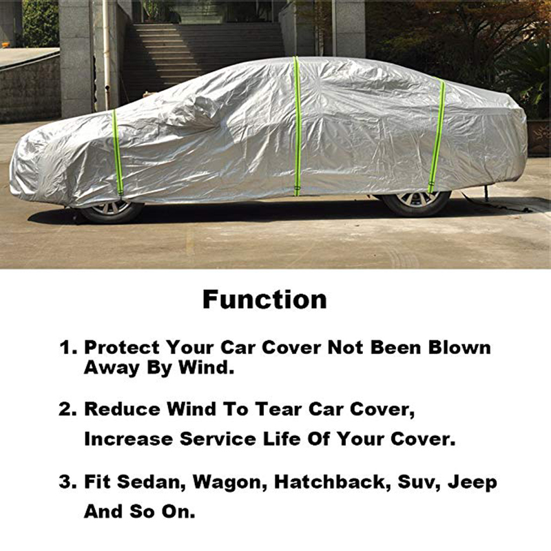 Image 2 - Kayme Gust Car Cover Straps Wind Protector,3pcs Elastic Adjustable Rope Protect Cover from High Wind, Universal FitReflective Strips   -
