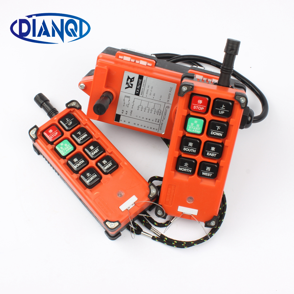 220V 380V 110V 12V 24V Industrial remote controller switches Hoist Crane Control Lift Crane 2 transmitter