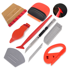 FOSHIO Vinyl Wrap Car Accessories Magnetic Squeegee Scraper Carbon Film Cutting Knife Tool Set Auto Sticker Styling
