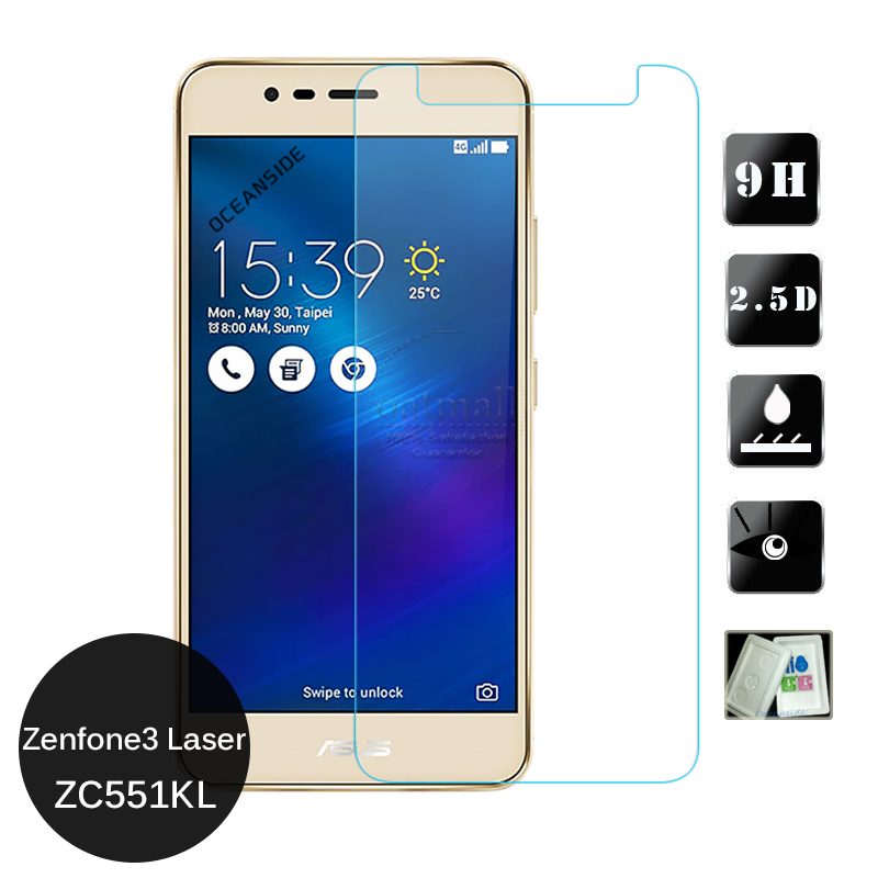 i dream For Asus Zenfone 3 Laser Zc551KL Tempered Glass Screen Protector 2.5 9h safety Protective Film on Zenfone3 Zc551