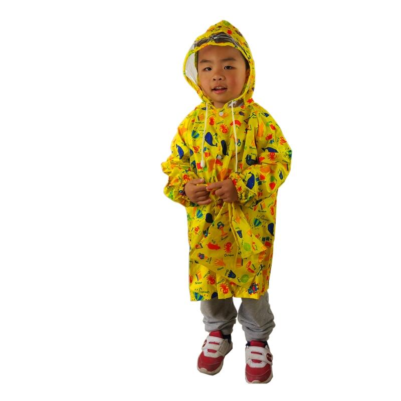 2-7 Years Old Kids Hooded Jacket Children Girl Boy Raincoat Kindergarten Student Poncho Cover Cartoon Queen For Tour Rainwear