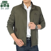 AFS JEEP 2015 New Style Original Mens Plus Size Jacket 3XL 4XL Business Mens Casual Cotton