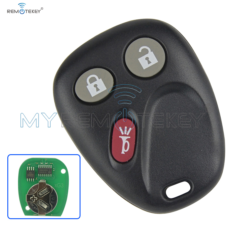 Navy Blue 3 Buttons Keyless Remote Key Fob Shell fit for 2003-2006 GMC Chevrolet
