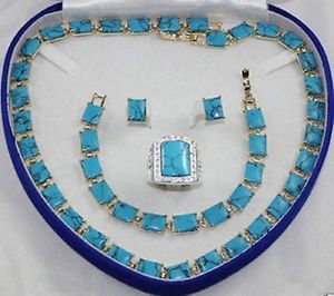 2017 Free shipping bridal Woman's Jewellery A Natural stone necklace bracelet ring earring set цена и фото