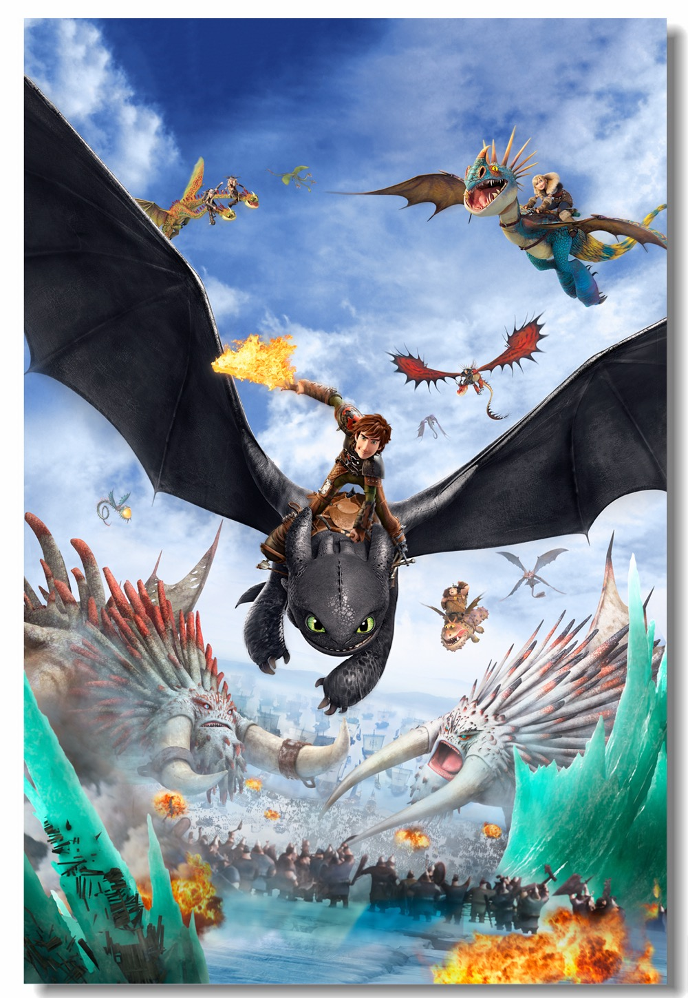 Custom Toothless Sticker Hiccup Wallpaper Train Your Dragon Poster