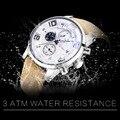 Мужские кварцевые наручные часы BIDEN  роскошные армейские военные часы с кожаным ремешком  0050  2019