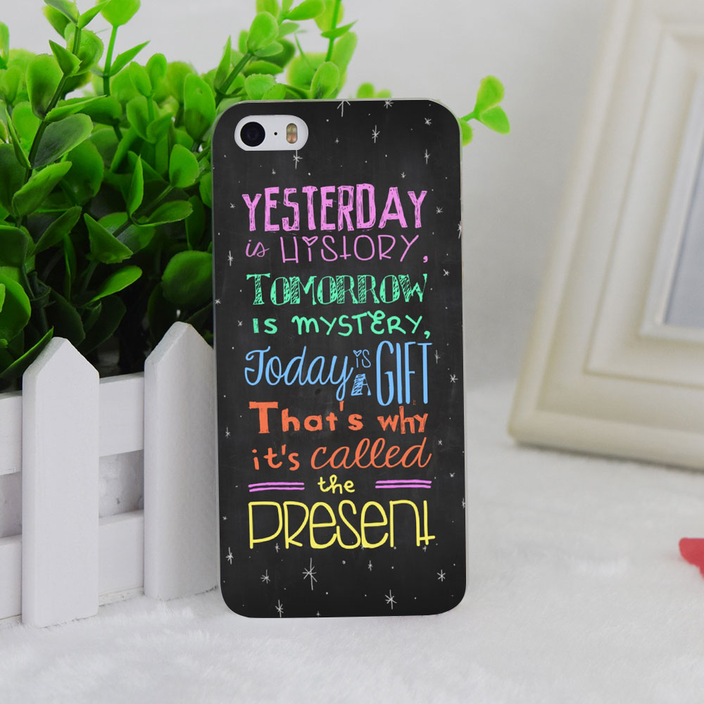 A1896 Frase Phrase Transparent Hard Thin Case Cover For Apple iPhone 4 4S 5 5S SE 5C 6 6S 6Plus 6s Plus