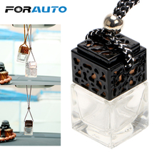 Empty Glass Bottle Car Hanging Perfume Rearview Mirror Ornament Air Freshener For Essential Oils Diffuser Fragrance Car styling