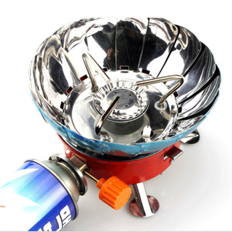 Portable gas stove burner camping stove sub outdoor picnic Folding Mini super light furnace burner camping outdoor equipment