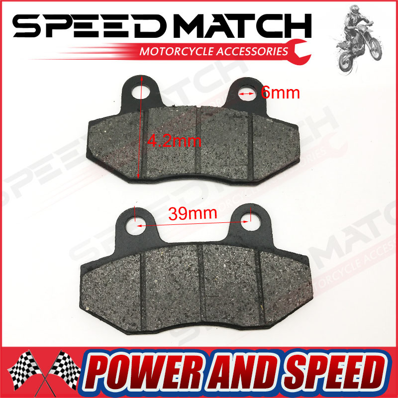 1 pair 90cc 125cc 110cc Twin Pot Classic Pit Dirt Bike Motercycle Rear Brake Pads ...