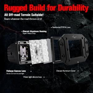 """Image 4 - MICTUNING 2 sztuk 5 """"42W LED światła wiązka punktowa dla Philips chip listwa świetlna LED światła do jazdy wodoodporna robocze Led światła przeciwmgielne do ciężarówki"""