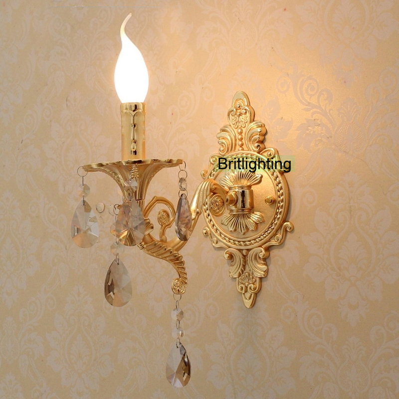 bedside LED Wall Lights Vanity Light Luxury gold wall lamp Bathroom Lighting unique Wall Sconces modern wall sconce crystal lamp ...