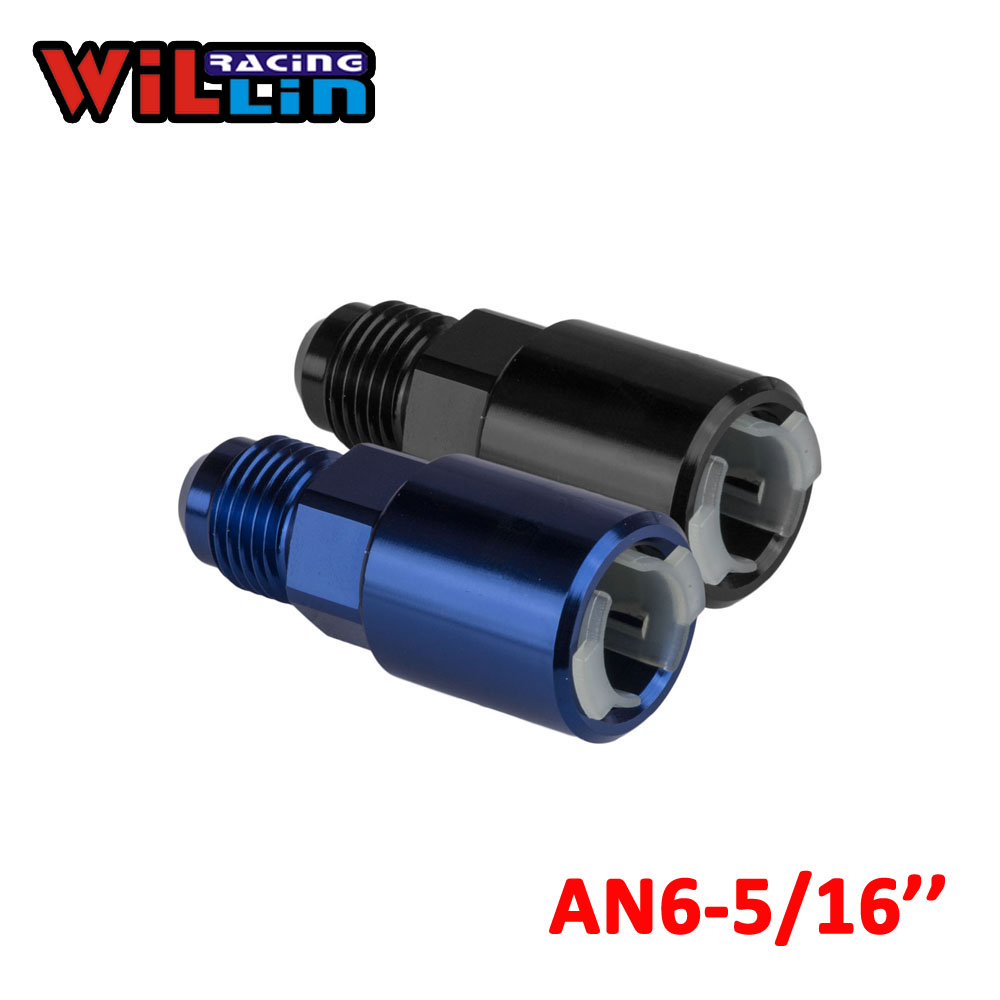 """3//8/"""" 9.5mm Female to AN6 Male PushOn Quick Connect Release Fuel Adapter Fitting"""