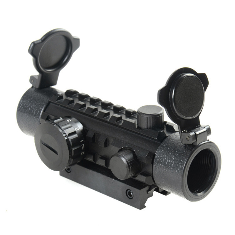 Tactical 1x30EG Green Red Dot Sight Rifle Scope Airsoft Riflescope Optical Fit 11/22mm Rail Rifle Scopes For Hunting