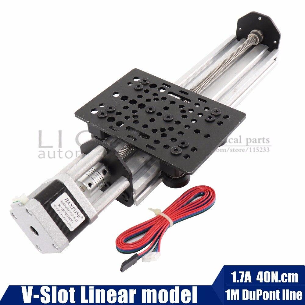 17hs4401 NEMA17 Stepper moteur V-Fente Linéaire modèle (T8*8 Plomb Vis) z-axe routeur kit Reprap 3D imprimante sapre pièces