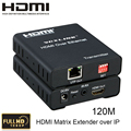 HDMI Extender над TCP/IP Матричный Extender до 120 М с ИК 1080 P HDMI1.3/HDCP1.1 & 1.2 Поддержка многоточка-многоточка