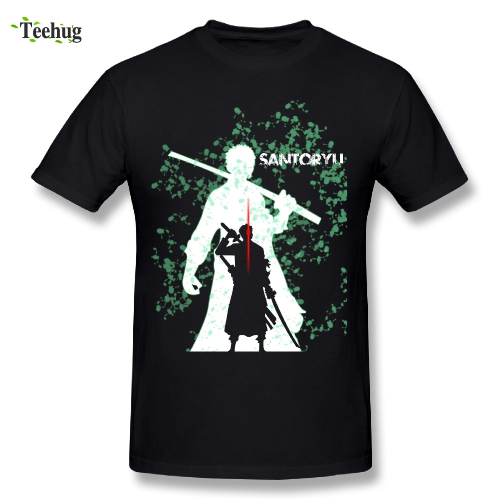 Graphic Boy Roronoa Zoro T Shirt Hip Hop One Piece Tees Short Sleeve