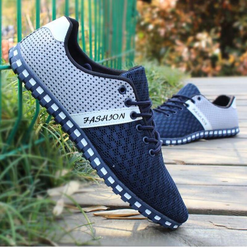 2017 hombres zapatos casuales de verano de alta calidad de malla luz sapato masc