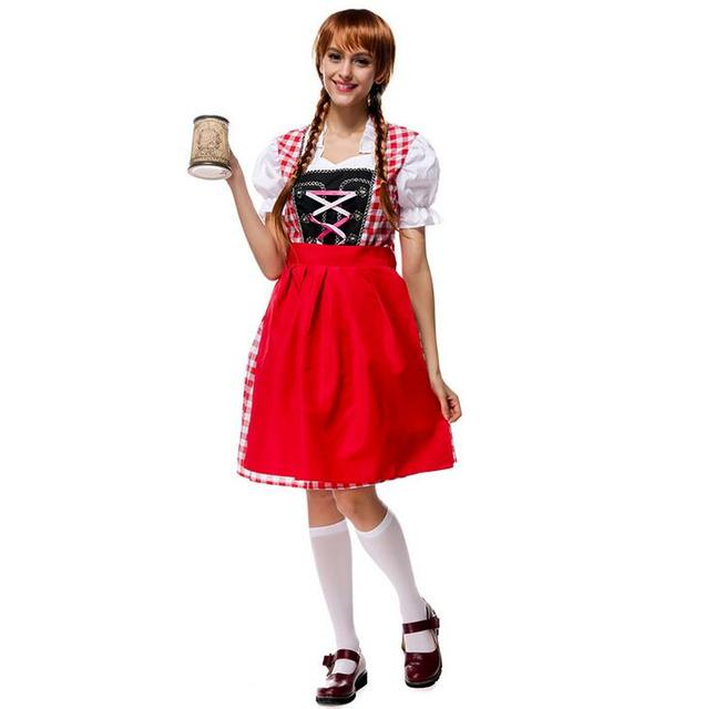 Retail New Long Red Oktoberfest Plus Size 6xl Beer Maid Peasant