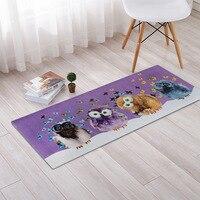 Cartoon Pretty Funny Owls Cats Print Carpet Rug Bedroom Living Room Hallway Carpets Kitchen Doormat Anti-Slip Home Decor Tapete