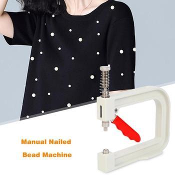 1Set Manual clavado de máquina ropa gorro de perlas de remache de bricolaje punto sombrero de herramientas de reparación de herramienta