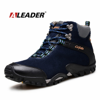 Winter Mens Leather Boots Warm SnowShoes 2015 Suede Ankle Boots Outoor Shoes Hiking Boots Fur Men