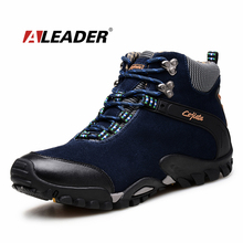 Winter Mens Leather Boots Warm Snow Shoes 2016 Suede Ankle Boots Outoor Shoes Snow Boots Fur Men Shoes Bota Masculina Sapatos
