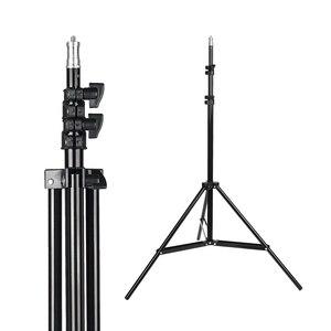 Image 2 - 2M(79in) photographie Photo Studio en alliage daluminium lampe support de lumière 1/4 vis léger trépied pour Godox Softbox Flash vidéo