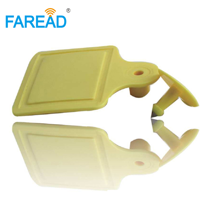 Free Shipping X10pcs High Quality UHF 860-960MHz RFID Cow Cattle Ear Tag  ISO18000-6C For Animal Counting