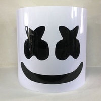 PVC Marshmello Helmet DJ Marshmello Mask Concert Props Future Bass Marshmello Music Fans Prop Bars Prop Halloween DJ Mask