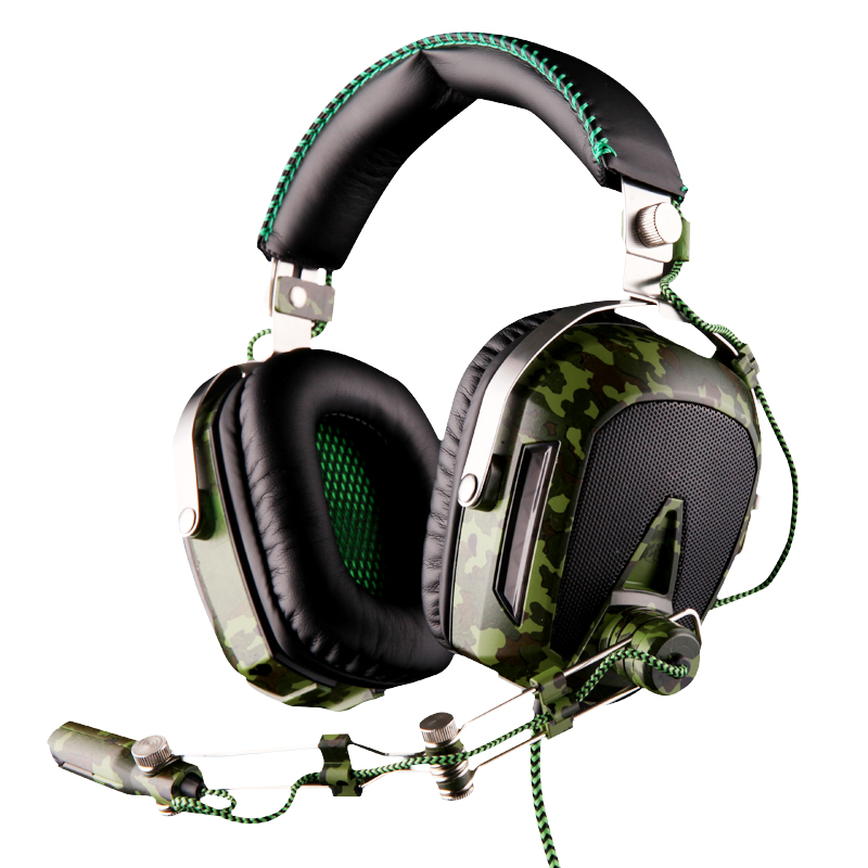 SADES A90 Camouflage Color USB 7.1 Surround Sound Professional Gaming Headset Stereo Headphone with Microphone 6 Color Lights
