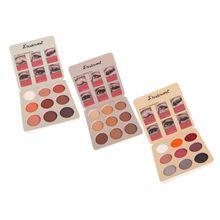 Paleta de sombra de ojos mate brillante 9 colores Vintage sombra de ojos pigmentada polvo Mineral de larga duración maquillaje cosmético impermeable
