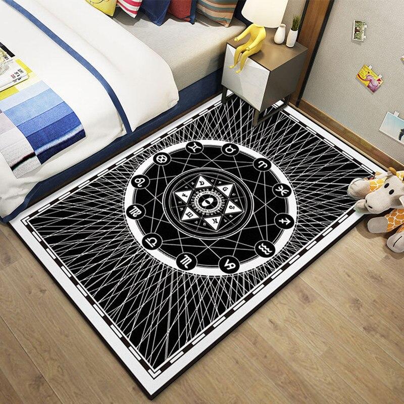 Tapis nordiques pour salon Table basse chambre zone tapis moderne Simple géométrique abstrait motif Rectangle chevet tapis