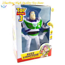 2017 New Arrival Toy Story 3 Buzz Lightyear Toys Lights Voices Speak English Action Figures 10 inch FB253